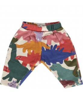 Ivory sweatpants for babykids with dinos