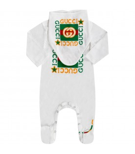 White set for babykids with logos