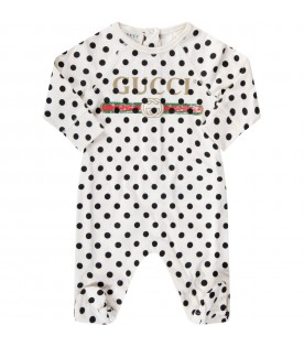 Ivory set for babykids with polka-dots