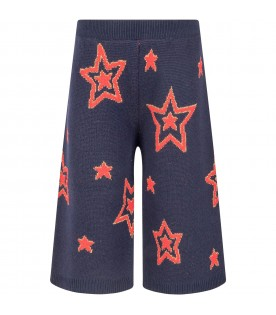 Blue pants for girl with stars