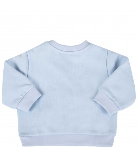 Light blue sweatshirt for babyboy with double FF