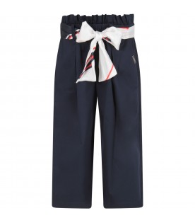 Blue pant for girl with logo