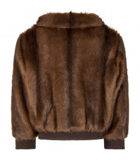 Brown jacket for girl