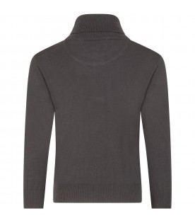 Black ''Ector'' turtleneck for kids