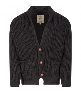Black ''Florian'' cardigan for kids