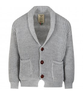 Grey ''Florian'' cardigan for kids