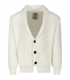 Ivory ''Florian'' cardigan for kids