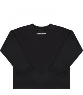 Black T-shirt for babyboy with logo