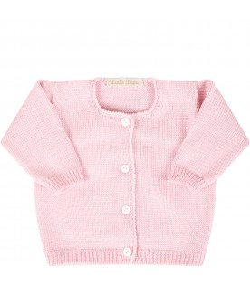 Pink cardigan for babygirl