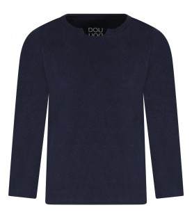 Blue sweater for boy with logo