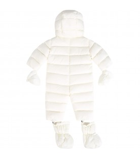 Ivory ''Ico'' overall for baby boy with logo