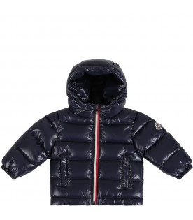 Blue ''New Aubert''  jacket for babyboy with patch