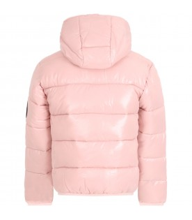 Pink jacket for girl with iconic patch