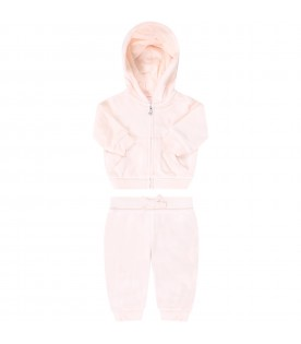 Pink tracksuit for babygirl with iconic pony