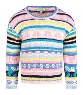 Multicolor sweater for girl