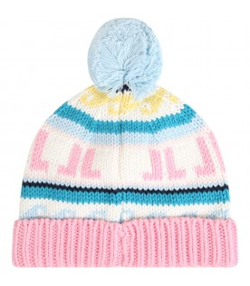 Mulitcolor hat for girl