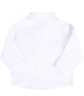 White shirt with classic neck