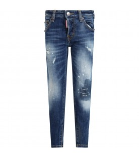 Denim ''cool guy'' jeans for boy with patch