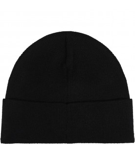 Balck hat for kids with logo