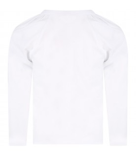 White t-shirt for girl with logo
