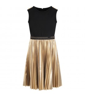 Black and gold dress for girl
