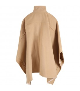 Camel poncho for girl