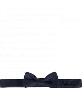 Blue bow-tie for babyboy with logo