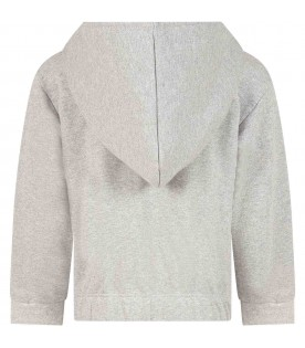 Grey sweatshirt for kids witth racket