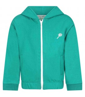 Green sweatshirt for kids witth racket