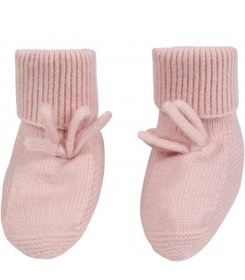 Pink bootee for baby girl