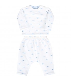 Light blue suit for babyboy with dogs