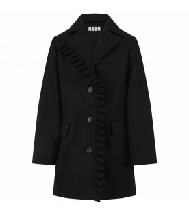 Black coat for girl with broken heart