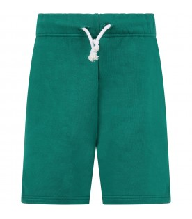 Green short for girl with racket
