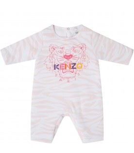 Pink suit for babygirl with iconic tiger
