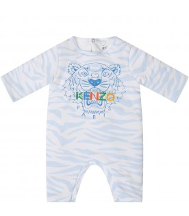 Light blue suit for babyboy with iconic tiger