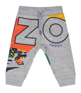 Grey sweatpants for babyboy  with tigers