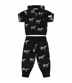 Black suit for babykids with logos