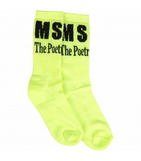 Neon yellow socks for kids