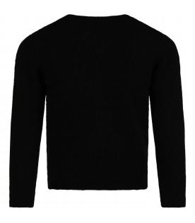 Black sweater for girl wih cherry