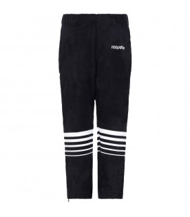 Blue sweatpants for kids with logo