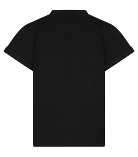 Black T-shirt for kids with panda
