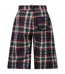 Multicolor short for girl with checks