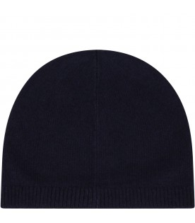 Blue hat for kids with logo