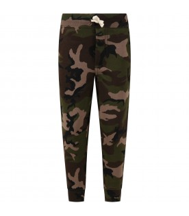 Camouflage pants for boy with iconic pony