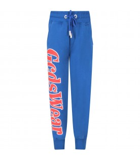 Royal blue sweatpants for boy with logo