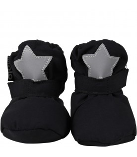 Black snow boots for babykids