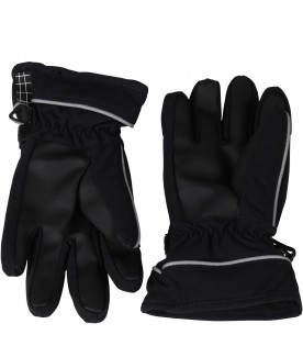 Black snow gloves for kids