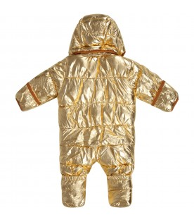 Gold padded overall for babykids