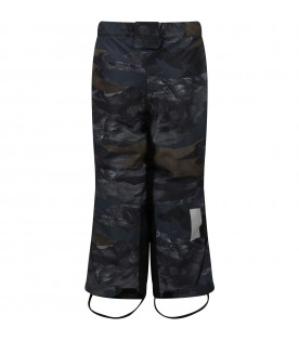 Camouflage padded snow pants for kids