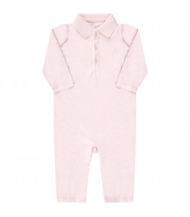 Pink suit for babygirl with iconic pony logo
